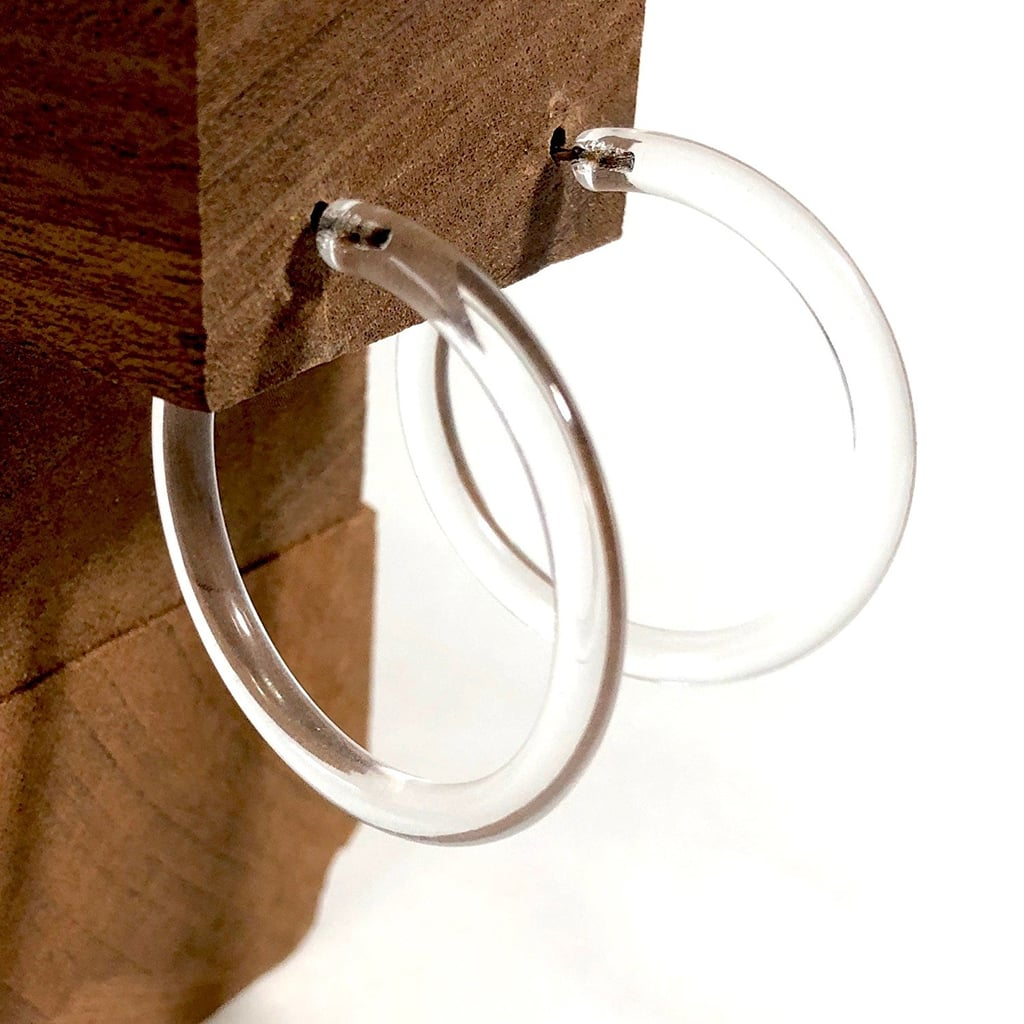 Amazon Clear Lucite Hoops