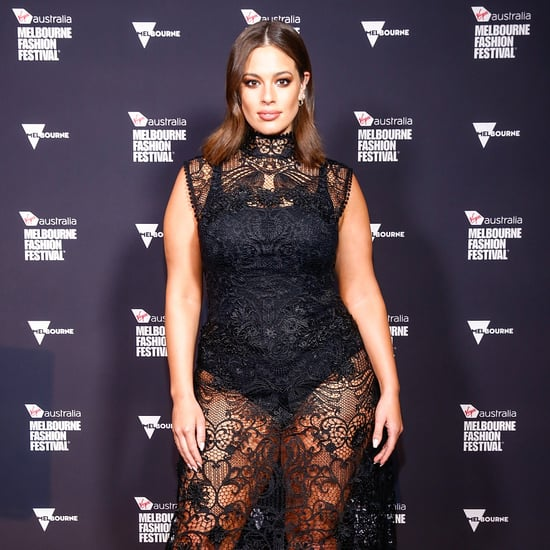 Ashley Graham Black Lace Midi Dress