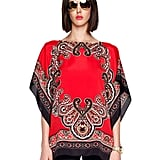 Add a chic bohemian touch to your holiday look with this Michael Michael Kors Paisley-Print Flutter Top ($100), and complete the look with a pair of leather leggings and simple suede pumps for a festive yet downtown cool getup.