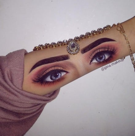 Makeup Artist Eye Shadow Eye Swatches