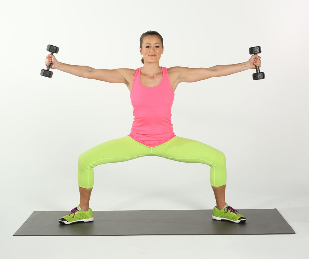 Sumo Squats With Side Arm Raises