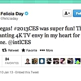 The ultra high definition (UHD) displays of CES 2013 were amazing, indeed, and we've got 4K envy just like Ms. Felicia Day of Geek & Sundry.