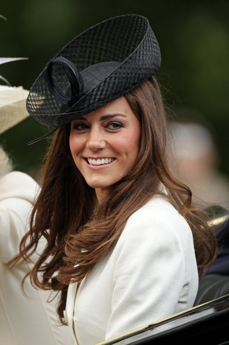 Kate selected a dramatic hat with woven details for the ...