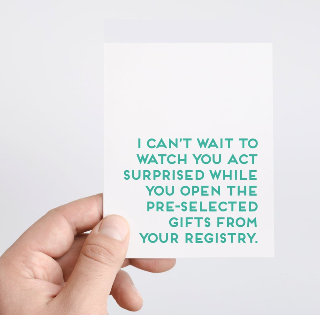Funny Baby Shower Registry Card