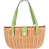 Sweet green straps add a pop of colour to this Kate Spade wicker basket purse ($168).