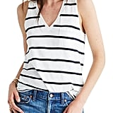 Madewell Whisper Cotton Stripe Pocket Tank