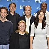 Bradley Cooper, director David O. Russell, Jacki Weaver, Anupam Kher, Jennifer Lawrence, and Chris Tucker attended the Silver Linings Playbook photocall.