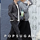Pregnant Evan Rachel Wood and Jamie Bell took a walk in LA.