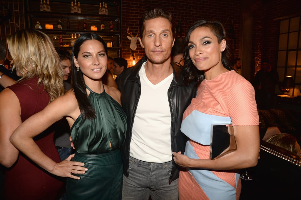 Olivia Munn and Rosario Dawson scored some face time with Matthew.