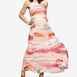 A Pea in the Pod Maternity Watercolor-Print Maxi Dress