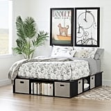 South Shore Flexible Black Oak Platform Bed