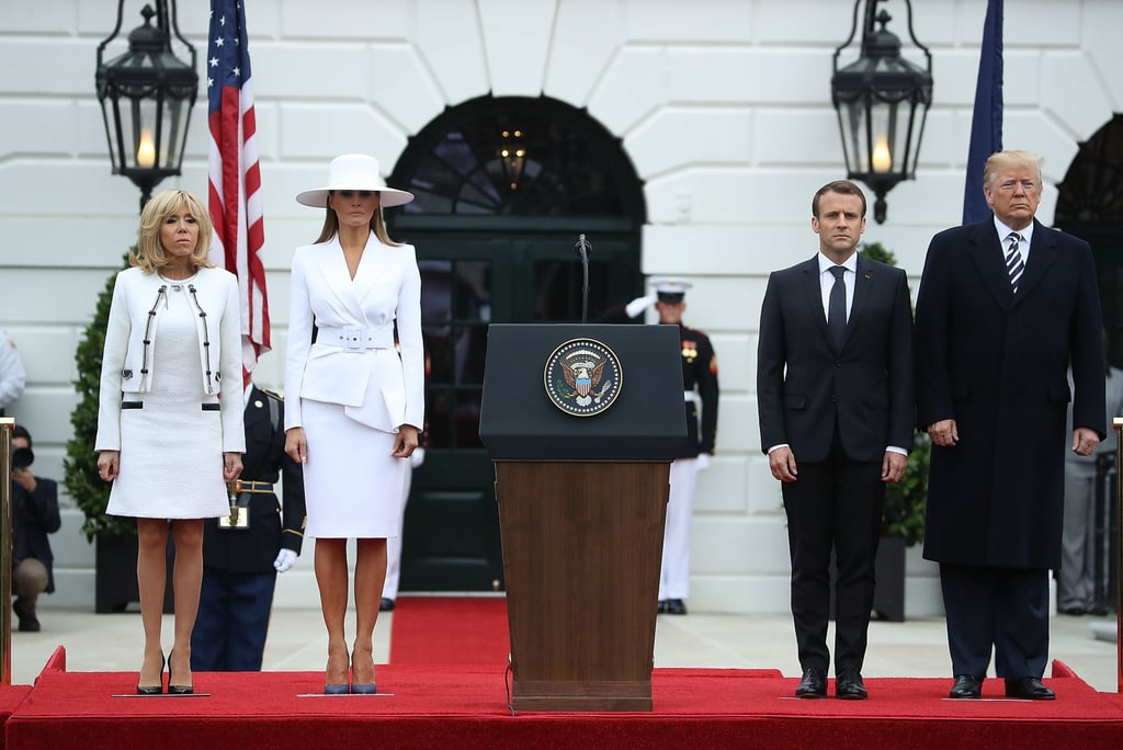 Melania Trump White Hat and Michael Kors Suit 2018