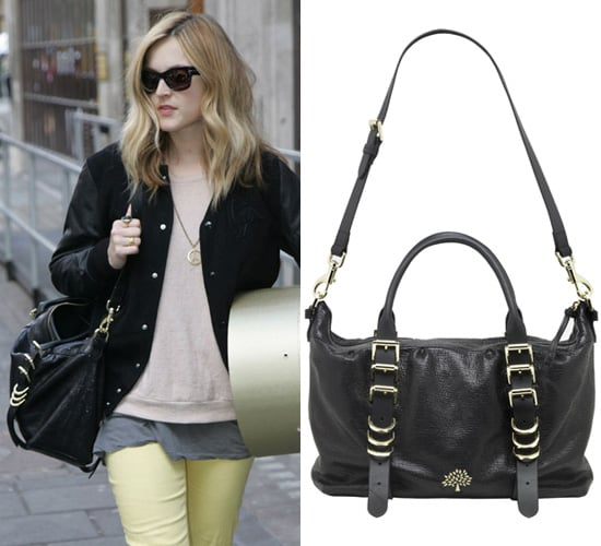 Photos of Fearne Cotton With a Black Shoulder Bag by Mulberry