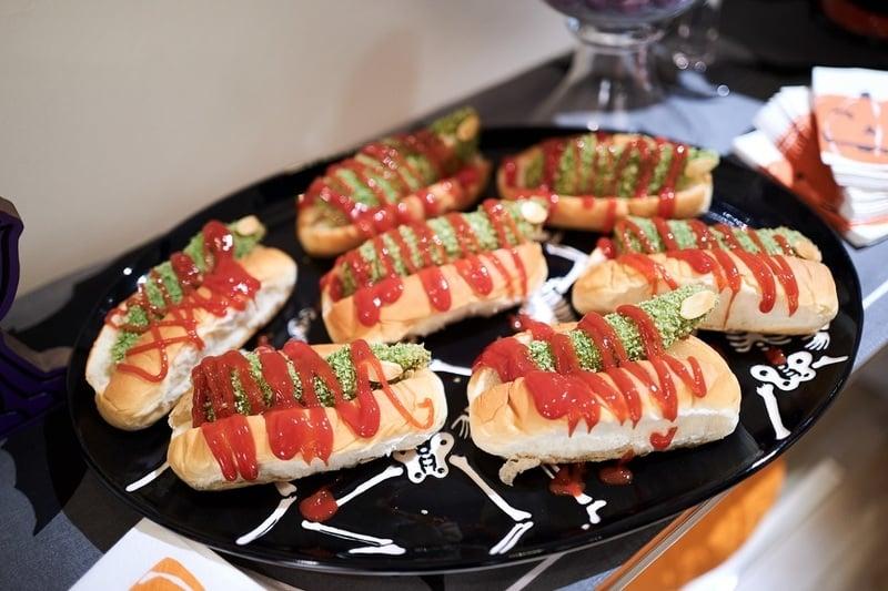 Green Chicken Finger Sandwiches Giada De Laurentiis Halloween