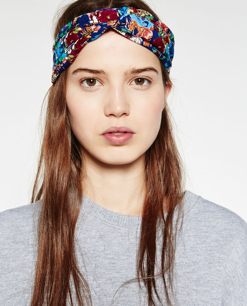 Zara floral turban headband 13 hats scarves and hair zara floral turban headband 13 izmirmasajfo