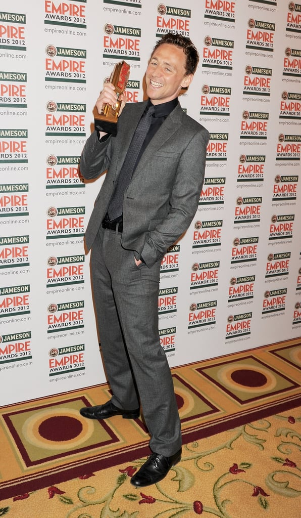 Tom Hiddleston attends the Jameson Empire Awards in London.