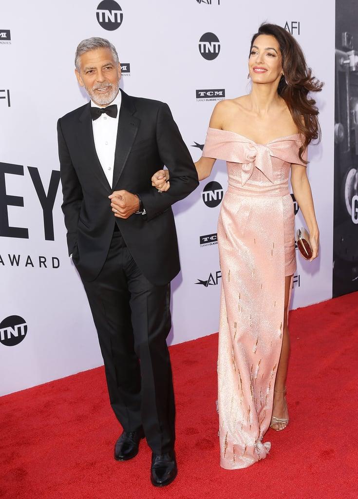 Amal Clooney\'s Pink Prada Gown | POPSUGAR Fashion