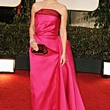 Natalie Portman wore pink Lanvin for the Golden Globes.