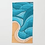 Society 6 Beach Tide Beach Towel