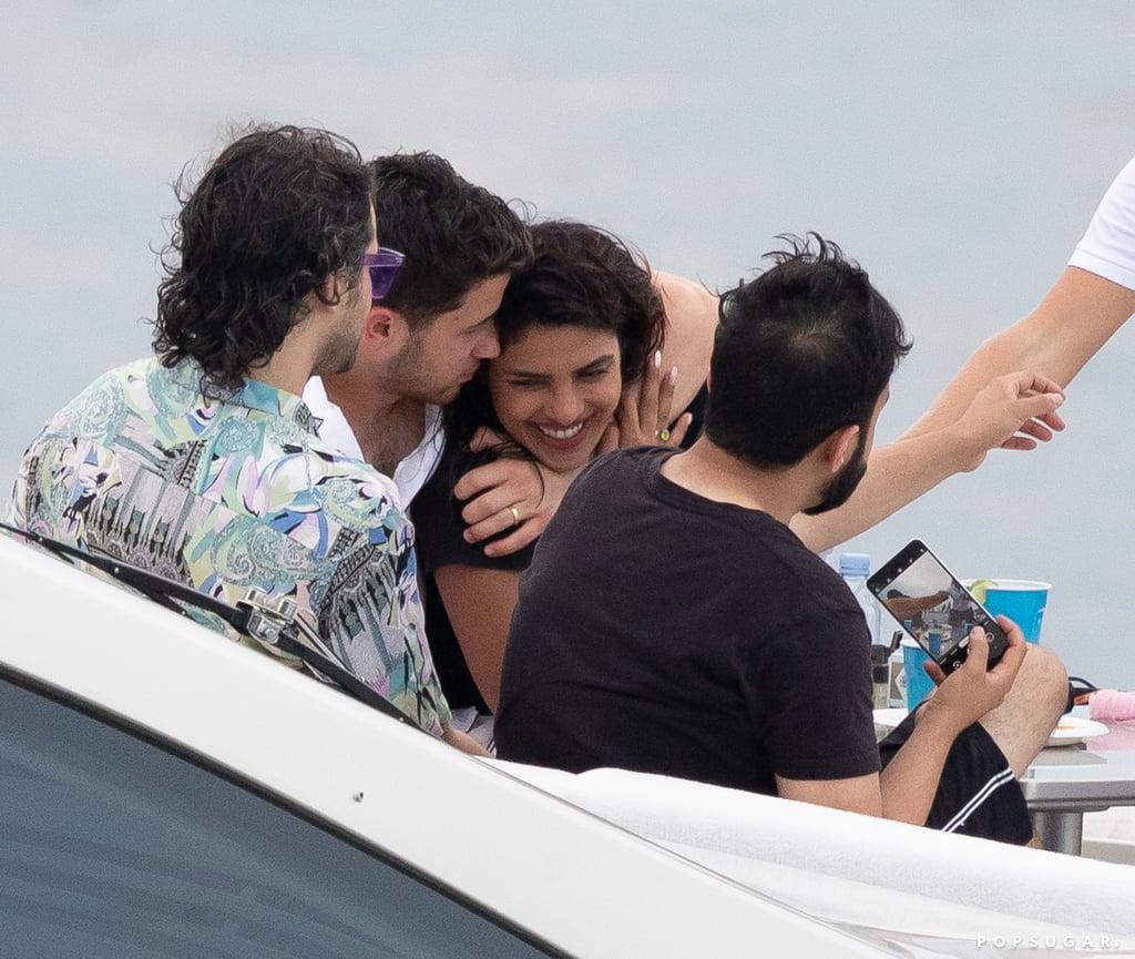 Nick Jonas and Priyanka Chopra in Miami July 2019