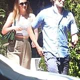 Leighton Meester and Adam Brody explored Topanga, CA, on Sunday.