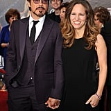Robert Downey Jr. and Glowing Wife and New Mom Susan Step Out For Avengers Premiere