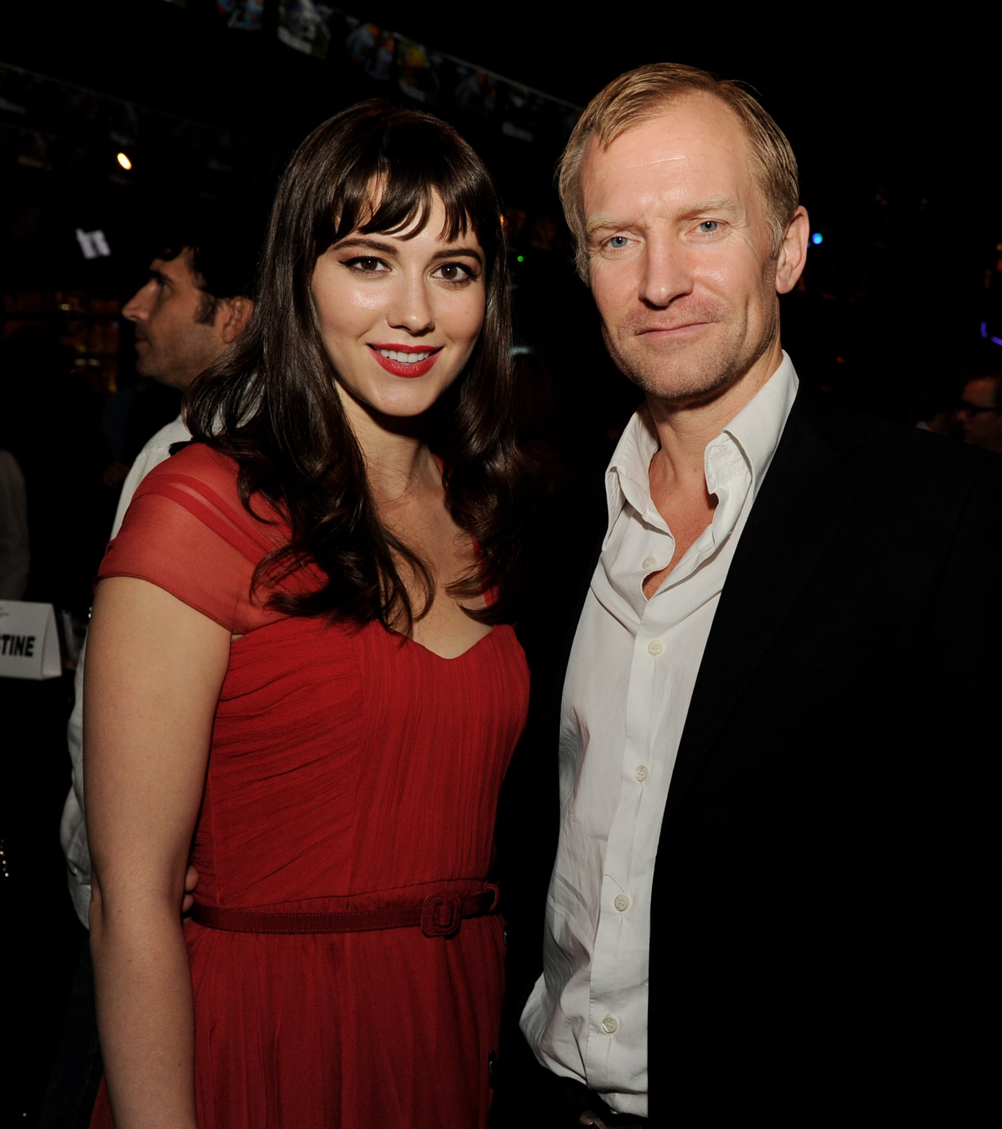 Mary Elizabeth Winstead and Ulrich Thomsen at the after party for The Thing's LA premiere.