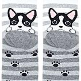 Forever 21 FOREVER 21+ Striped Dog Graphic Socks
