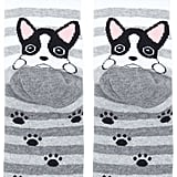Forever 21+ Striped Dog Graphic Socks