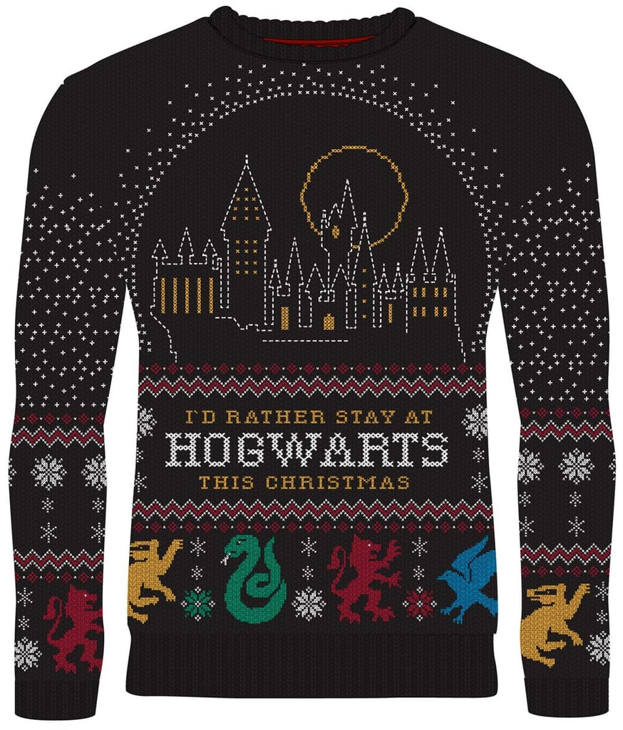 Harry Potter: I'd Rather Stay at Hogwarts Christmas Sweater