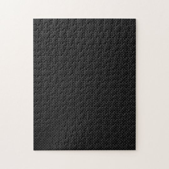 1,000 Piece Black Carbon Fibre Print Puzzle