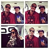 LaLa hung out with her husband, Carmelo Anthony, and son Kiyan.  Source: Instagram user LaLa