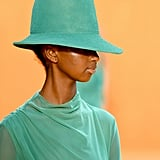 A Hat on the Sally LaPointe Runway at New York Fashion Week