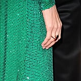 Angelina Jolie's Robert Procop ring, a simple addition to her stunning bombshell look.