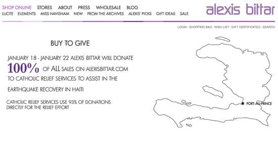 Buy Bittar, Help Haiti