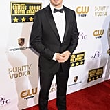 Jeremy Renner looked handsome in his suit and bow tie.