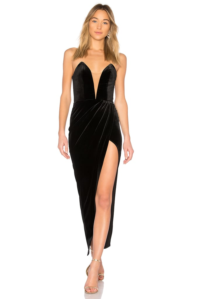 Michael Costello x Revolve Jake Gown in Black