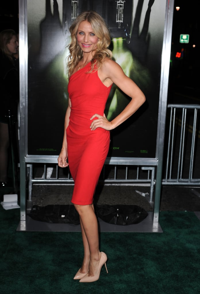 Cameron Diaz Goes Tan, Red, and Tight to The Green Hornet Premiere