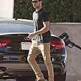 Zac Efron pumped his own gas.