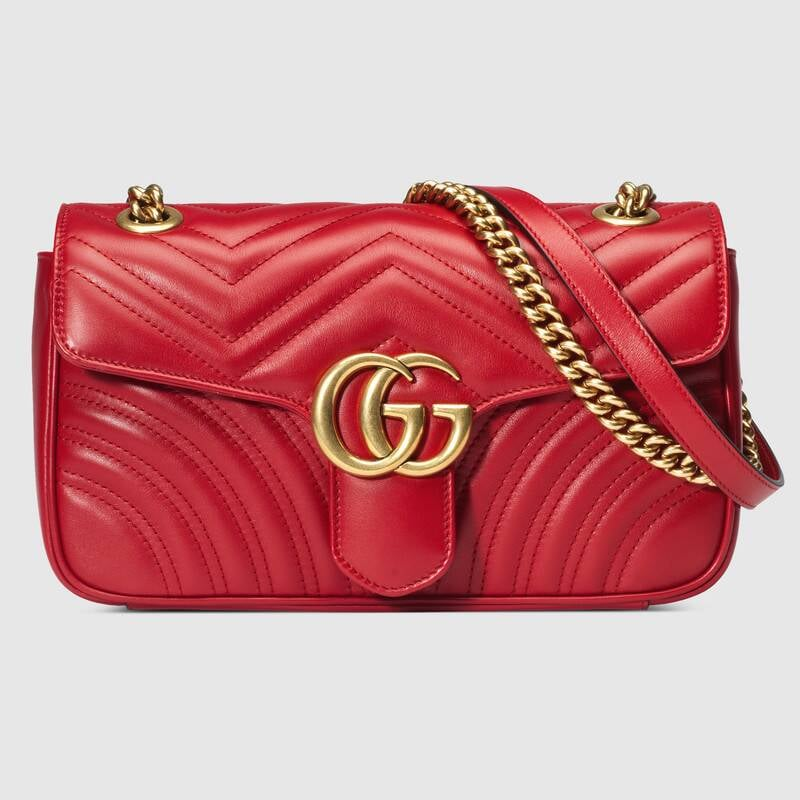 Snow White: Gucci GG Marmont Small Matelassé Shoulder Bag