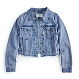 Frayed Cropped Jean Jacket