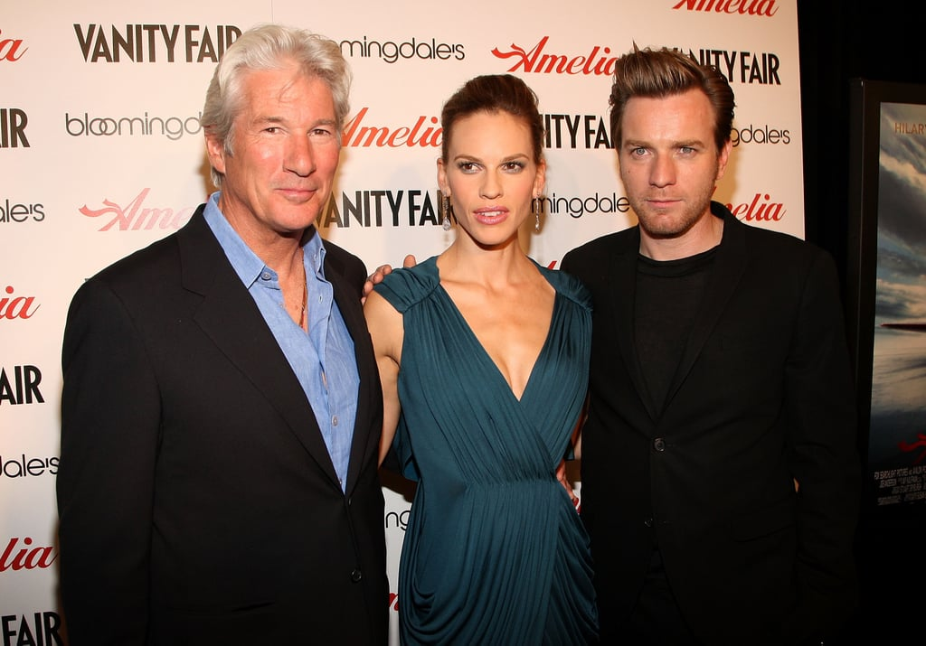 Photos of Ewan McGregor and Hilary Swank at Amelia Premiere