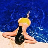 Kim Kardashian flaunted her backside while swimming in Mexico.  Source: Instagram user kimkardashian