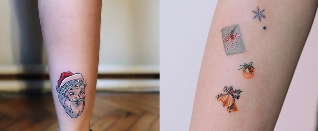 Best Holiday Tattoos If You Love Santa, Snowflakes, and More