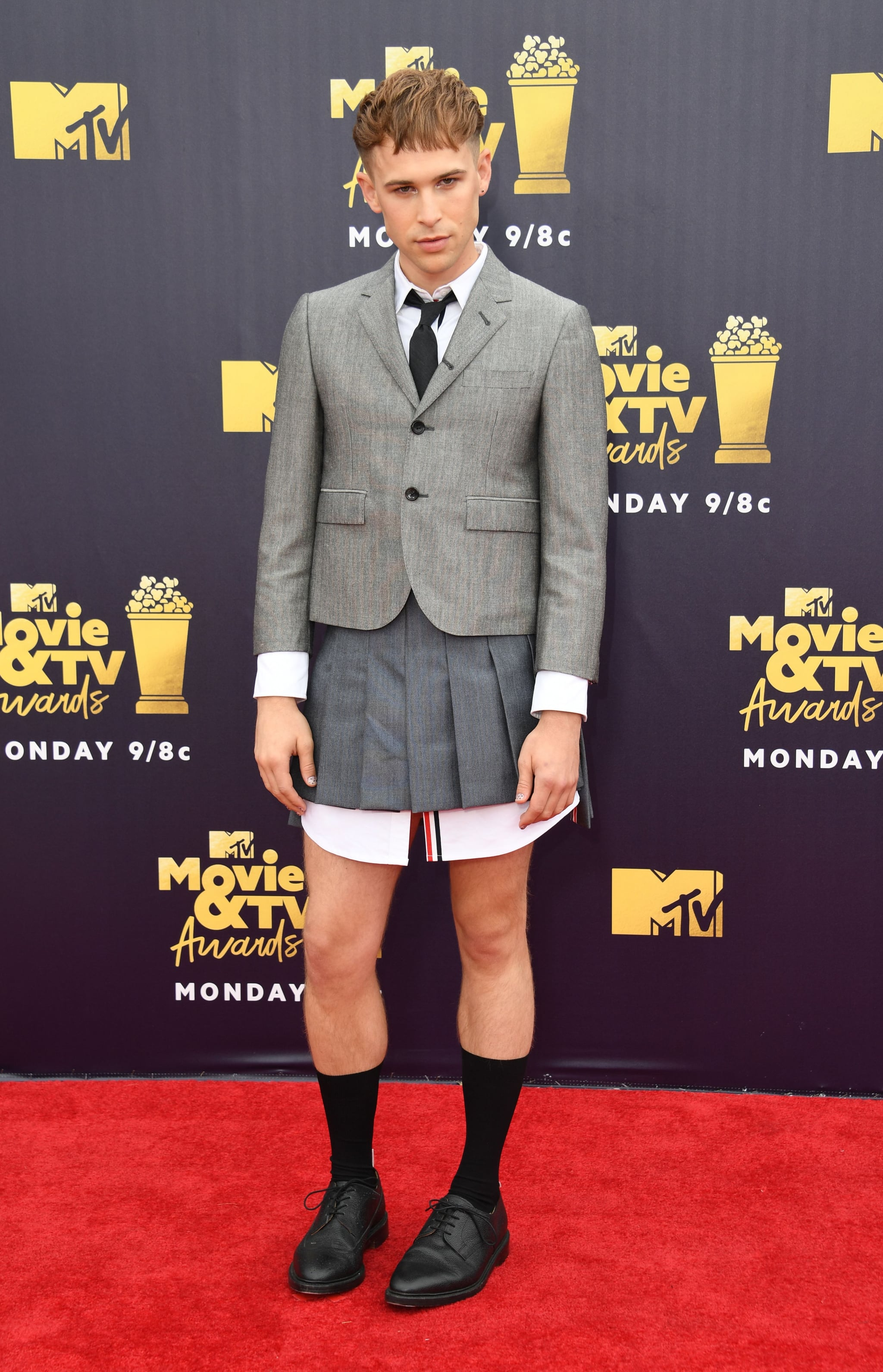 Tommy Dorfman   The MTV Movie and TV Awards Were Basically Just a MASSIVE  13 Reasons Why Reunion   POPSUGAR Entertainment Photo 4