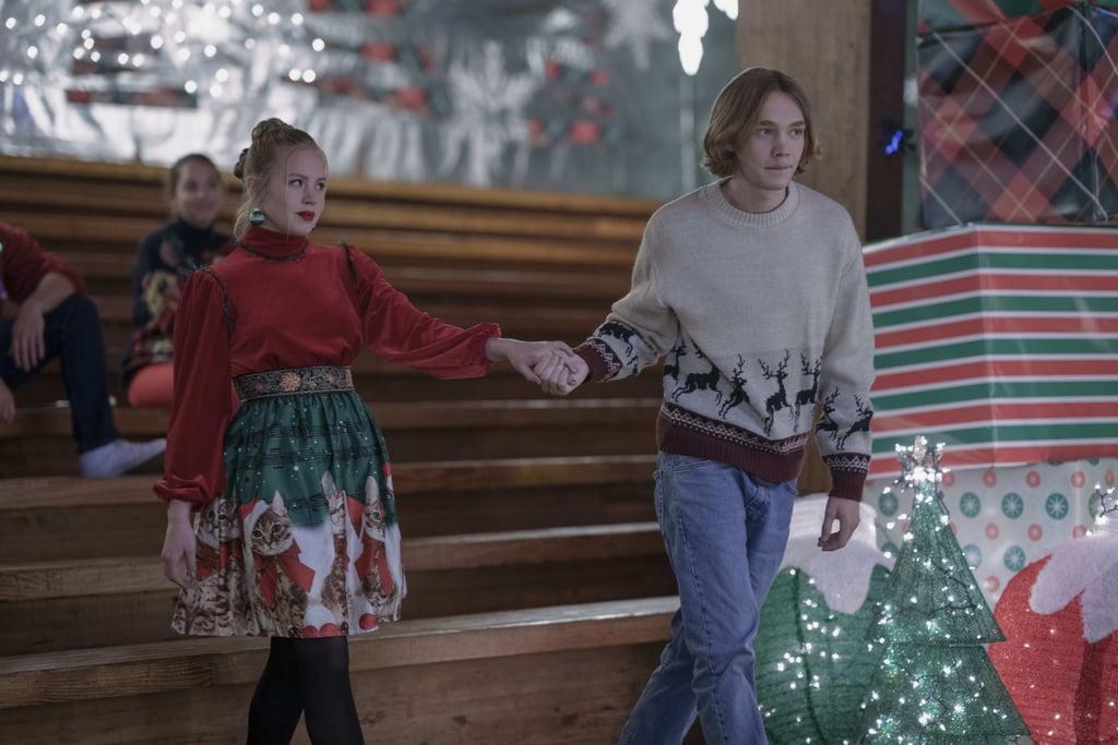 Sofia Vassilieva as Lara Buterskaya and Charlie Plummer as Miles Halter in Looking For Alaska