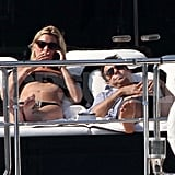 Kate Moss and Jamie Hince yachted off the coast of Corsica.