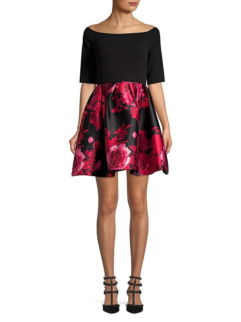ec9ac475ae Betsy   Adam Off-Shoulder Floral Combo Dress