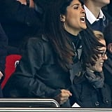 Salma Hayek yelled during the game.