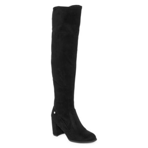 Liz Claiborne Anabella Over the Knee Block Heel Zip Boots